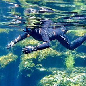 Snorkelling at Kilsby Sinkhole - photo credit Matilda Sweeney