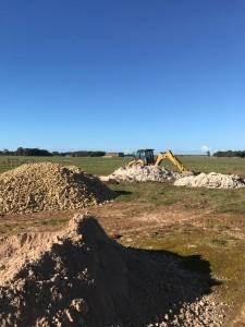 Digging of septic